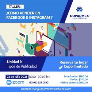 Taller: ¿Cómo vender en Facebook e Instagram?